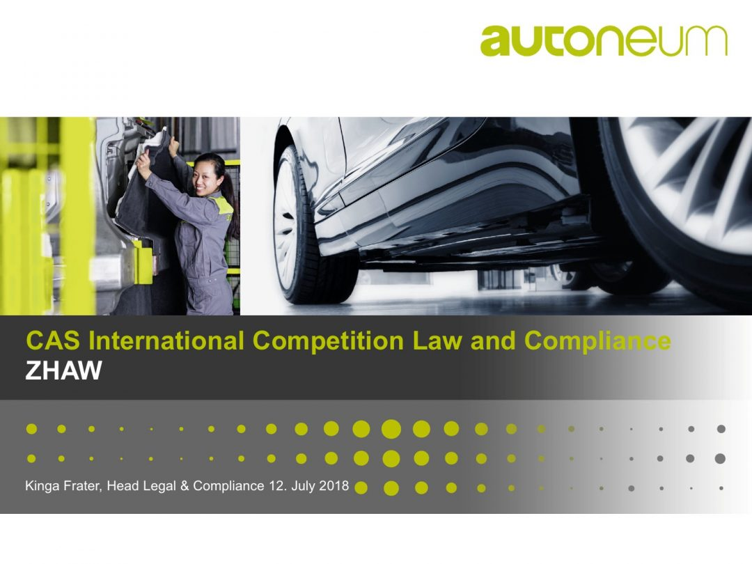 Presentation Kinga Frater – CAS International Competition Law and Compliance Course, 2-13 July 2018 Geneva Switzerland
