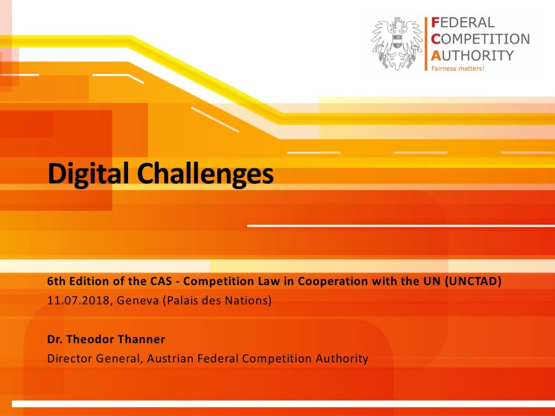 Presentation Theodor Thanner 2 – CAS International Competition Law and Compliance Course, 2-13 July 2018 Geneva Switzerland